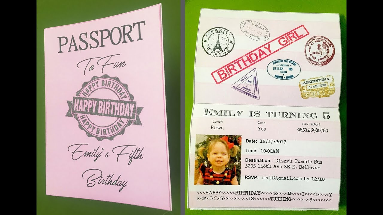 How To Make Custom Passport Invitations With MS Word And A Browser