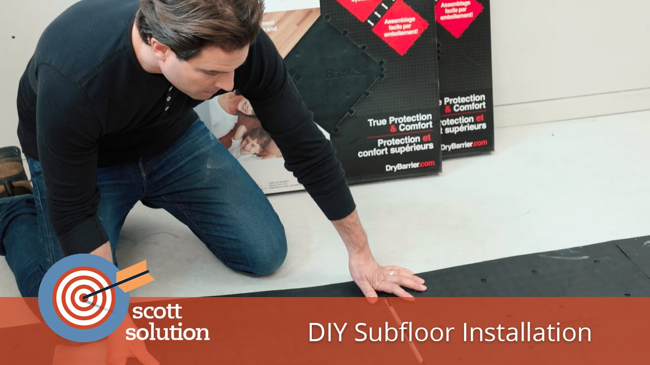 DIY Subfloor Installation With DryBarrier YouTube - Dry barrier subfloor