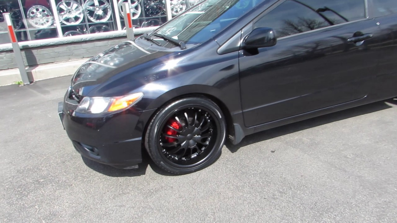 2012 honda civic coupe with 18 inch black rims youtube. Black Bedroom Furniture Sets. Home Design Ideas