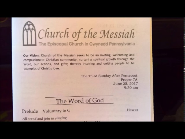 Church of the Messiah full service   6 25 2017