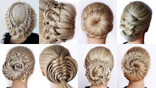 😱 9 Easy UPDO HAIRSTYLES Tutorial😍 Wedding Prom Updo perfect for long, medium & shoulder length hair
