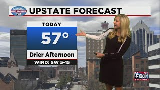 Drier afternoon with mild temps