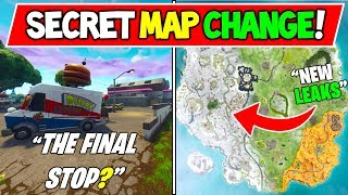CHANGEMENT DE CARTE SECRÈTE FORTNITE NOUVEAU! Saison 7 MAP CHANGES Concepts/Leaks - Durr Burger Next Location