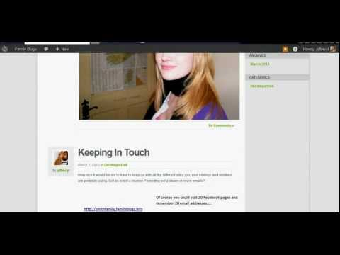 wordpress102a detailing media and adding a user
