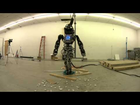Terrifying Humanoid Robot ATLAS Defeated By Block Of Wood