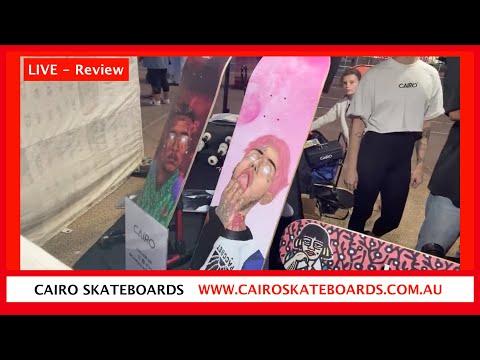 CAIRO Custom Made Skateboards - Beachfront Markets Surfers Paradise - DIY Art Maple wood Skateboards