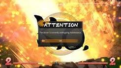 DRAGON BALL FighterZ - Server Under Maintenance