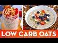 Low Carb Oatmeal! Hot Porridge & Overnight Oats Keto Breakfast Recipes - Mind Over Munch
