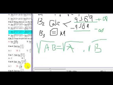 giải bài tập dạng trắc nghiệm  bằng cách bấm máy tính giới hạn hàm số