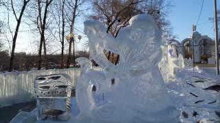 Хабаровск. Парк Динамо. Ледяные фигуры