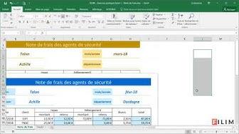 FILIM   Exercice pratique Excel 1   Note de frais
