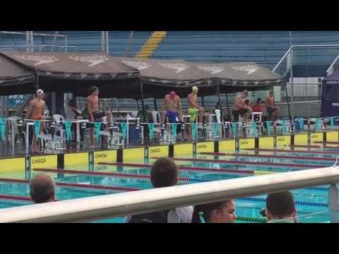 Competencia de Natación 100 metros libres de Juegos Sudamericanos Escolares.