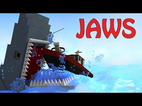 Minecraft | JAWS SHARK MOD Showcase! (Shark Attack, Jaws, Sharks)