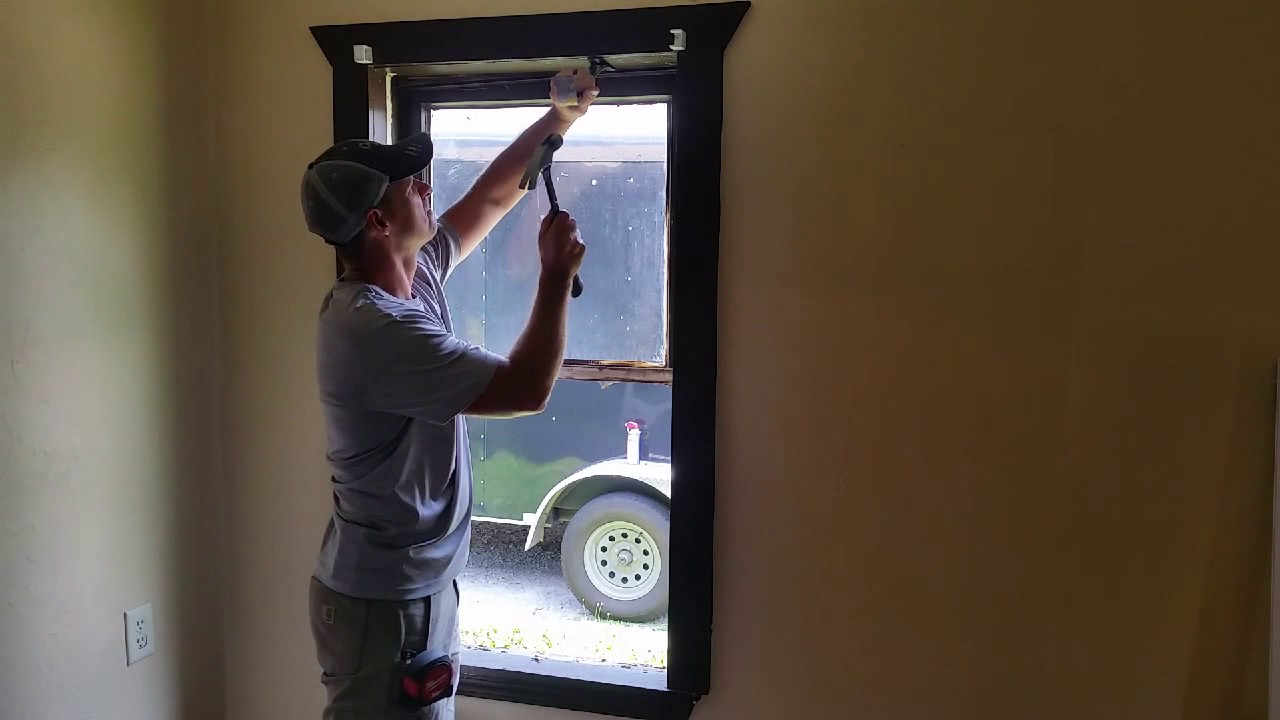 Diy installing vinyl replacement windows youtube for Installing vinyl replacement windows