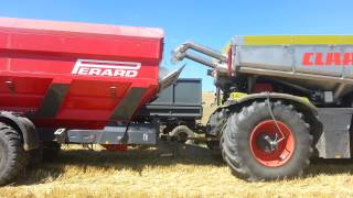 Claas Xerion Saddle Trac and Perard Interbene 25