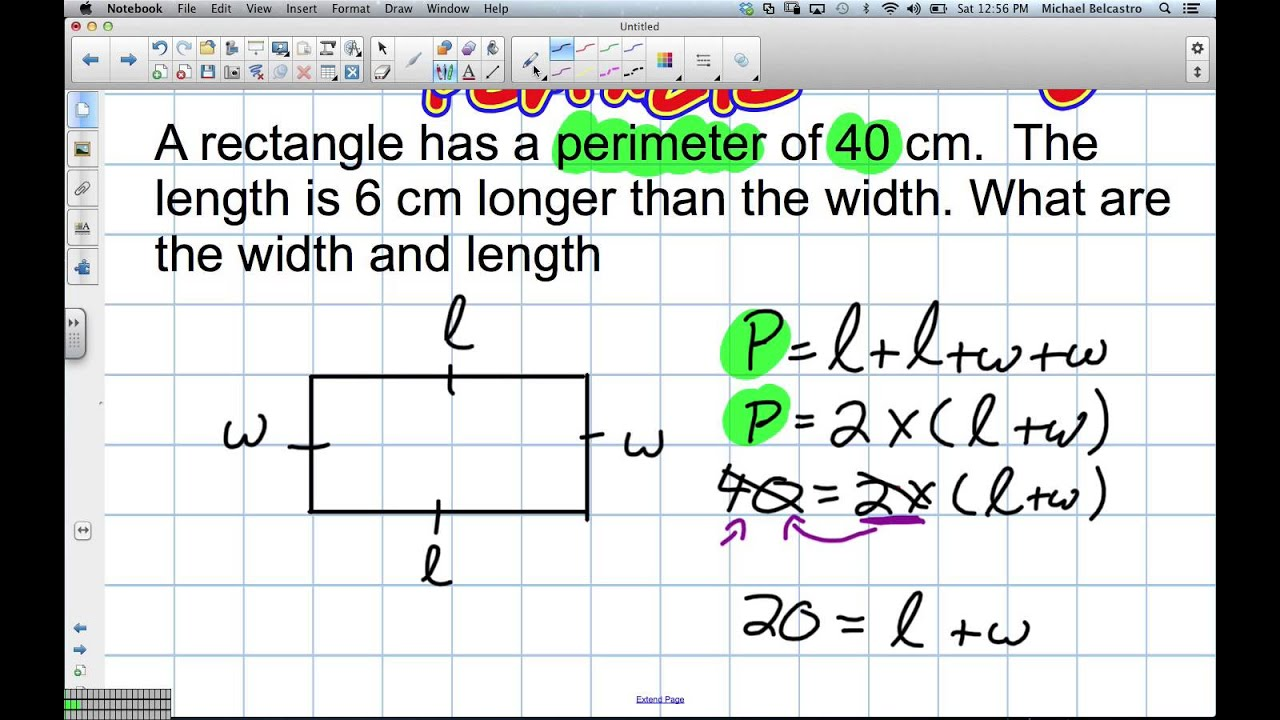 Problem Solving with Perimeter Grade 5 Nelson Chapter 5 Review 2 2 13