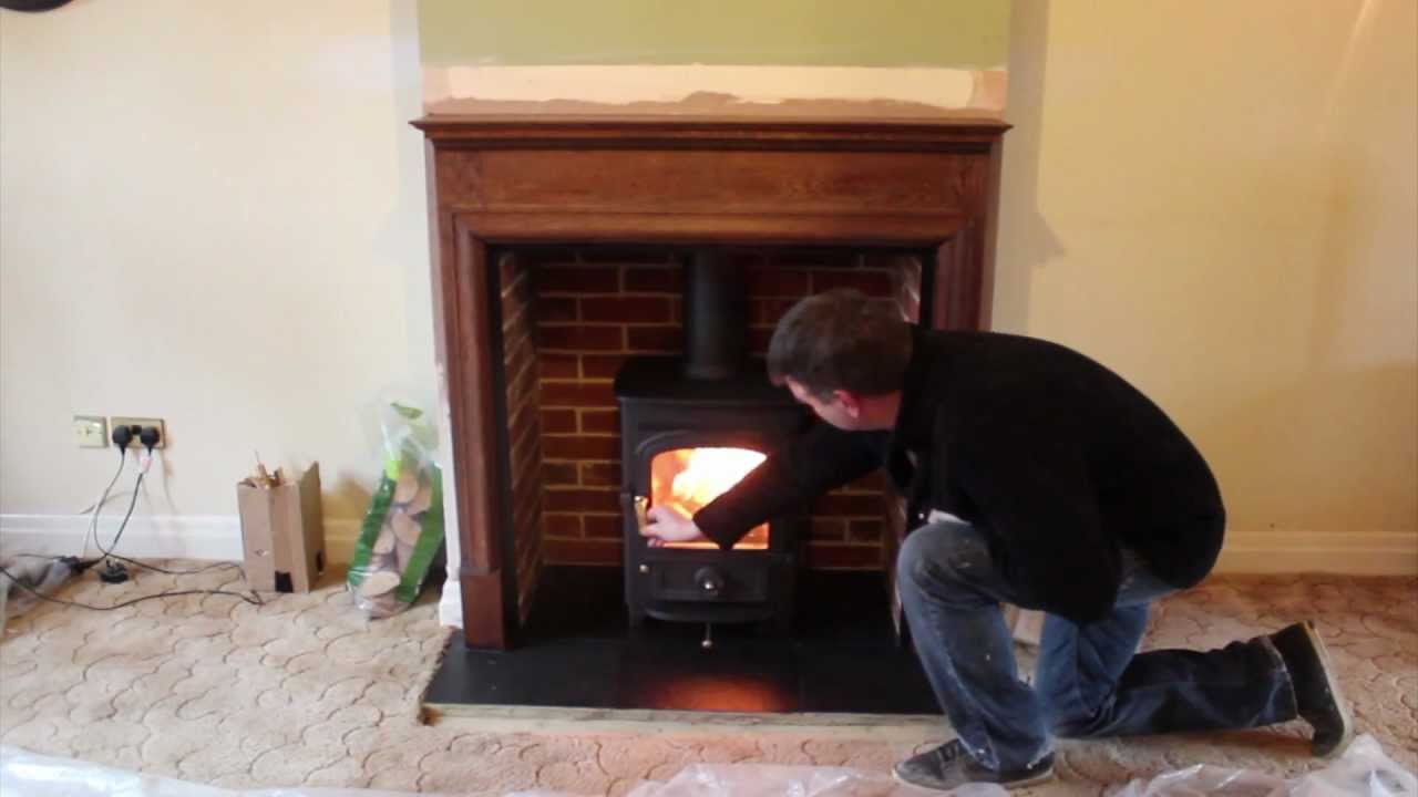 Clearview Pioneer 400 wood burning stove, fireplace and ...