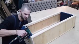 ПОДРОБНЫЙ МАСТЕР - КЛАСС как сделать банкетку пуф своими руками ЧАСТЬ 2