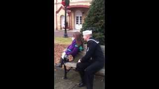US Navy Seabee Christmas Homecoming Surprise