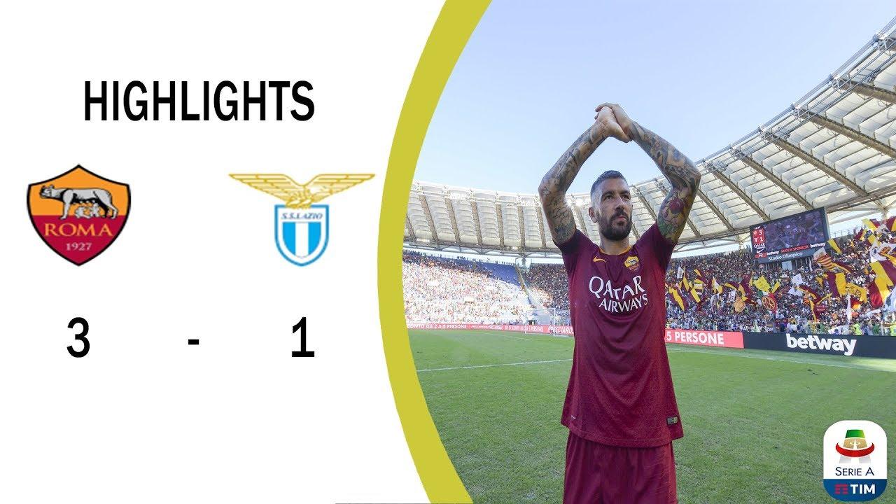 Serie A: Roma - Lazio Highlights - YouTube