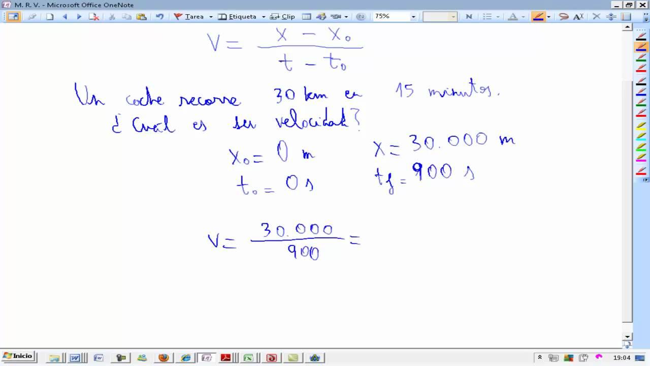 Movimiento Rectilineo Uniforme Teoria y problema Fisica y quimica 4º ...