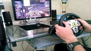 -TEST- Volant Thrustmaster Ferrari Challenge Wheel !