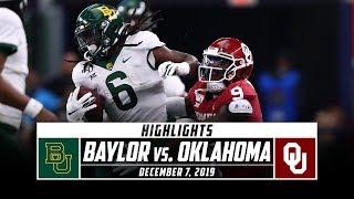 Big 12 Championship: No. 7 Baylor vs. No.6 Oklahoma Football Highlights (2019) | Stadium