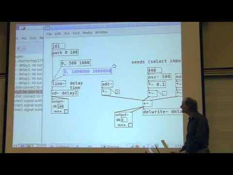 Miller Puckette's Lecture 17 of UCSD class Music 171: Computer Music I