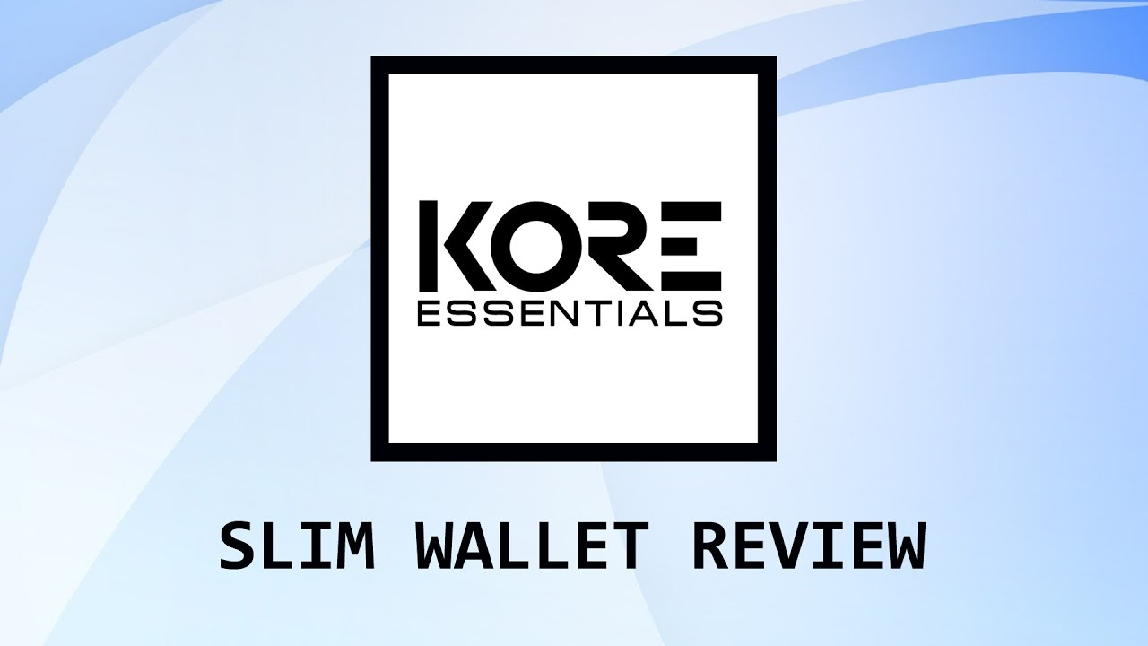Kore Essentials Slim Wallets Youtube Grab the discount up to 35% off using promo codes. youtube