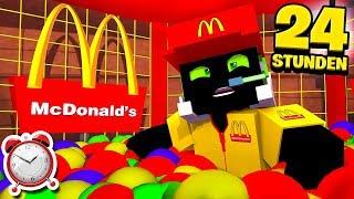 24 STUNDEN EINGESPERRT im McDonalds?! - Minecraft [Deutsch/HD]