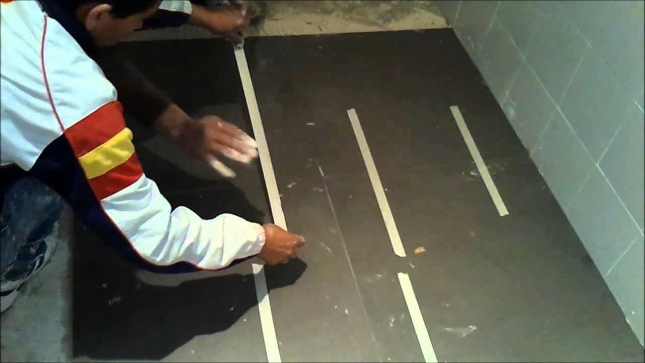 Solado. Cómo colocar suelo cerámico de baldosas de grés porcelánico ...