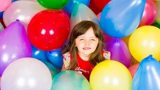 100 SURPRISE TOYS GIANT BALLOON POP CHALLENGE | Huge Surprise Toys Video Kinder Playtime