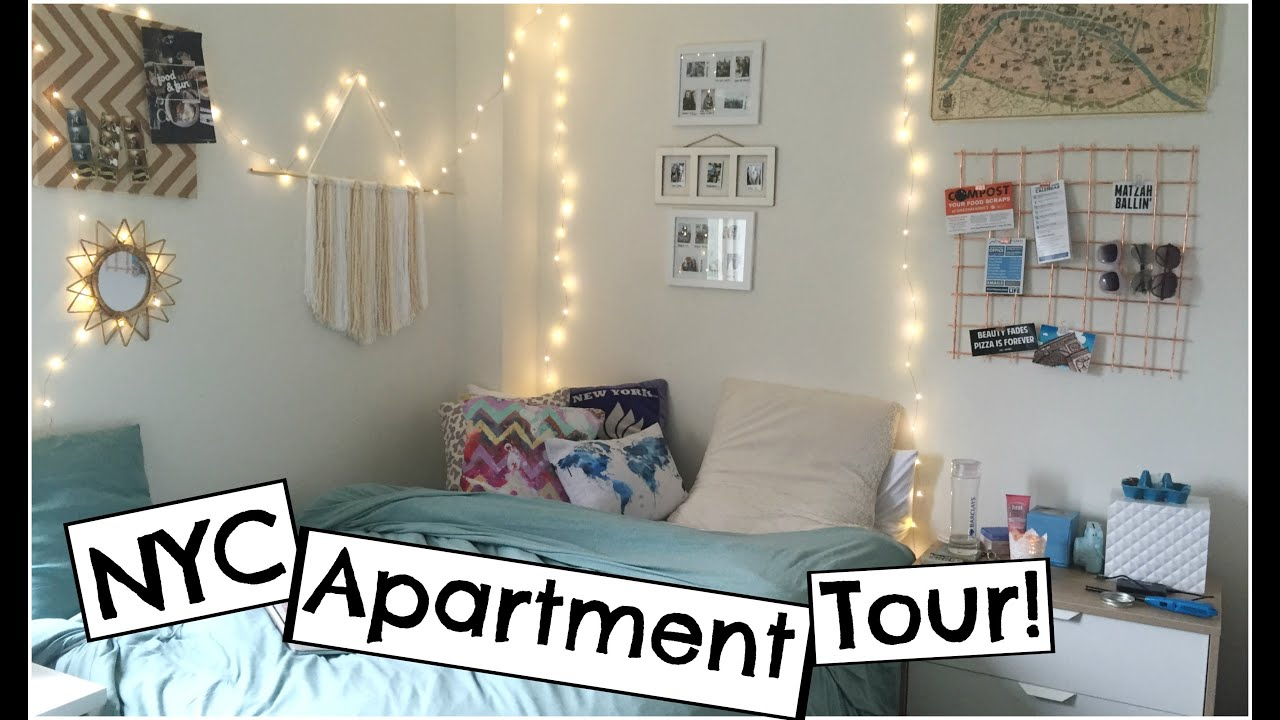 NYC College Student Apartment Tour   First Off-Campus Apartment!