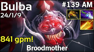 841 gpm! Bulba Broodmother - Dota 2  7.17