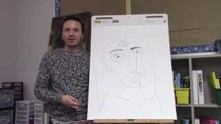 Pablo Picasso drawing for kids 1 with Ramon Carrasco