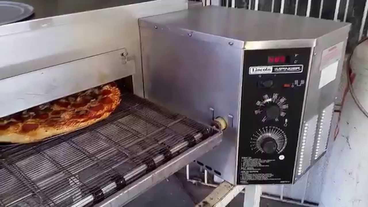Horno de banda para pizza lincoln 1116 youtube for Hornos para cocina precios