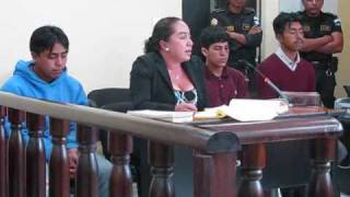 Huehuetecos en audiencia judicial