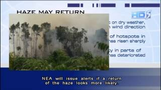 NEA: Haze may return in coming days - 21Jul2013