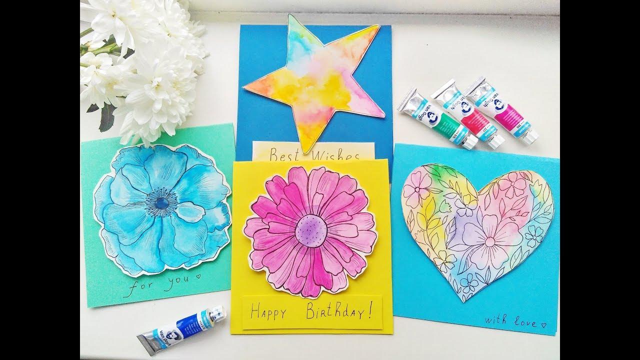 Diy Easy Watercolor Cards Ideas Greeting Card Making Tutorials