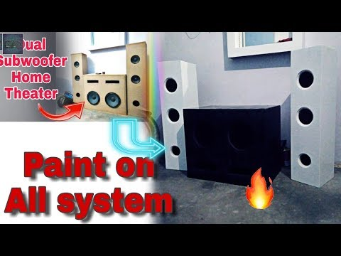 Paint on 4.2 home theater system || how to paint on any home theater system