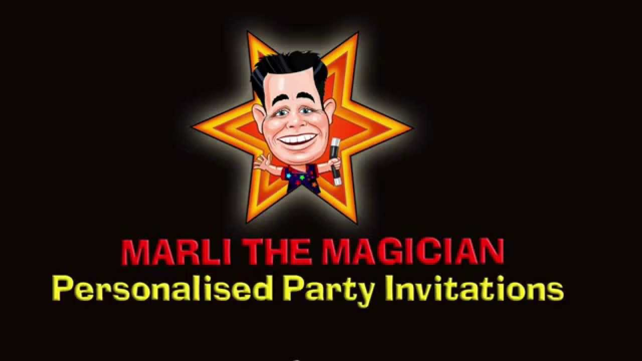 Marli The Magician Party Invitations - Revised - YouTube