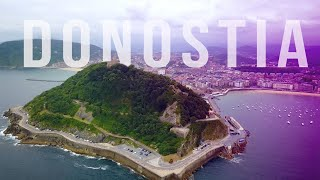 Donostia in the Basque Country (Drone in San Sebastián)