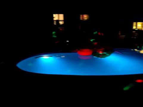 Graduation pool party night time