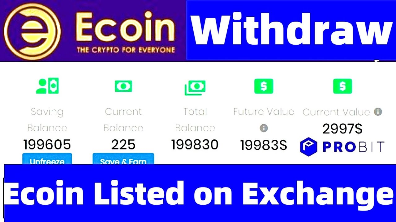 ecoin cryptocurrency exchange