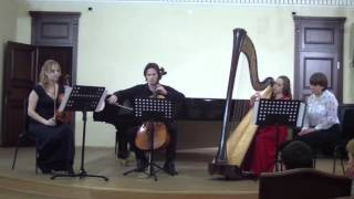 J.Ibert Trio for violin, сello and harp. Anastasia Sleptsova, Adel Zakirov, Yana Lyashko