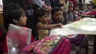 Lajna Imaillah Bangladesh distribute gifts in school