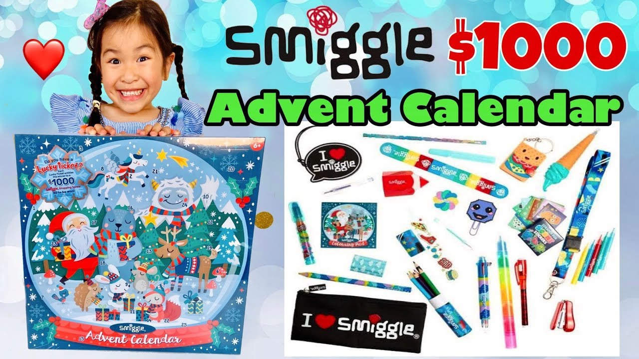 smiggle advent calendar 2019 opening will we win 1000. Black Bedroom Furniture Sets. Home Design Ideas