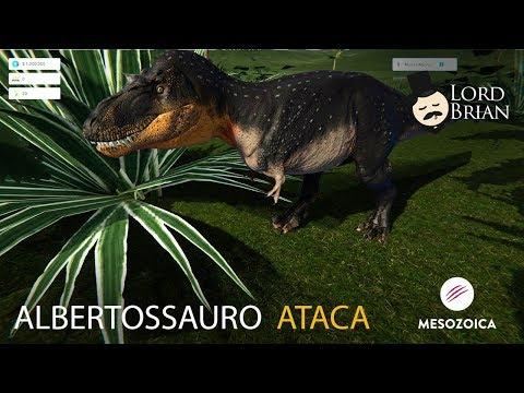 Mesozoica -  Ataque de Albertossauro + Dakotaraptor