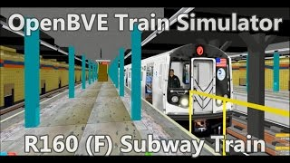 OpenBVE ►F Train Express Coney Island to Jamaica 179 St!◀ (R160B)