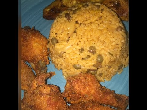 How I Make Arroz Con Gandules:Spanish Rice & Pigeon Peas !